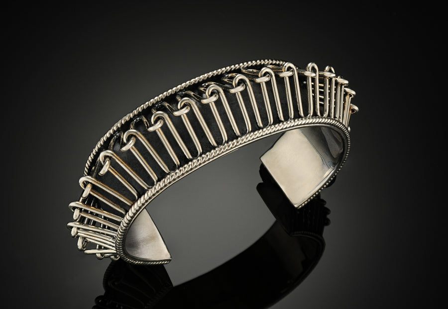 Sterling Silver Spiky Reef Cuff