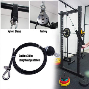 TrekTech™ Home Workout Fitness Pulley Cable System - TrekTech