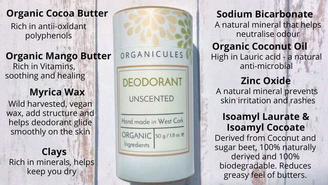 Natural deodorant with organic and vegan ingredients