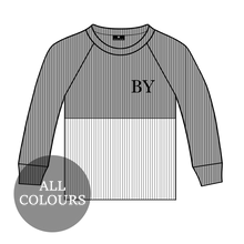 Load image into Gallery viewer, CYO Ribbed Lounge Long Sleeve Split T-Shirt