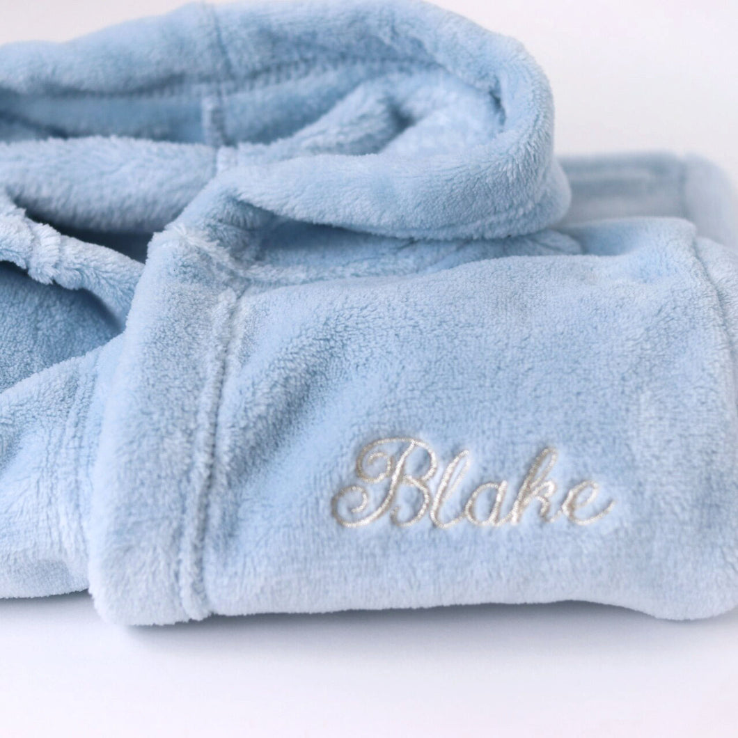 Embroidered Personalised Dressing Gown (Front Embroidery)