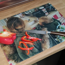 Load image into Gallery viewer, Photo Upload Plain Glass Large Chopping Board