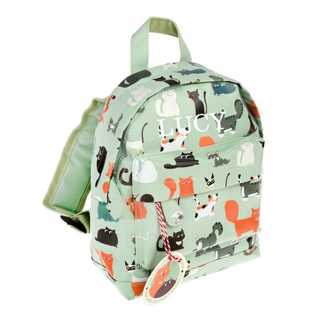 Nine Lives Mini Pattern Backpack
