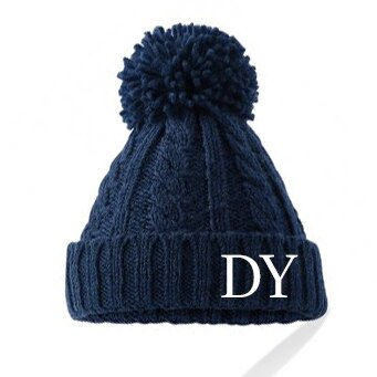 All Colours Adult Cable Knit Pom Hat