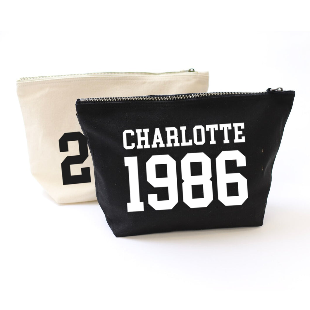 College Year Personalised Accessory Bag