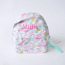 Load image into Gallery viewer, Flamingo Bay Mini Pattern Backpack