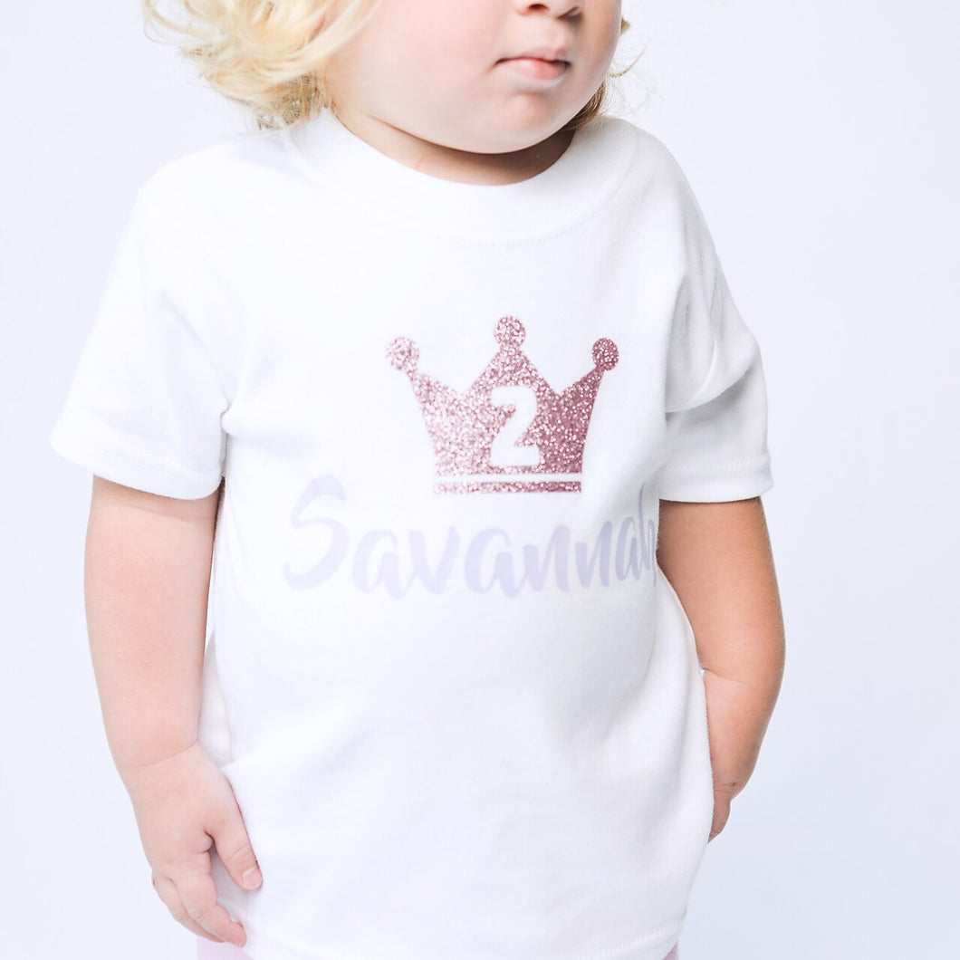 Birthday Number Crown T-Shirt