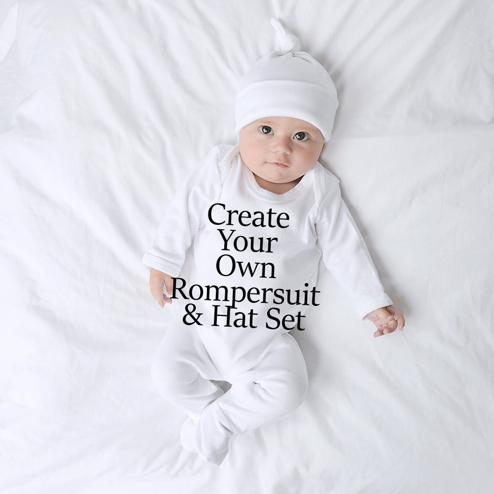 Create Your Own Rompersuit & Hat Set