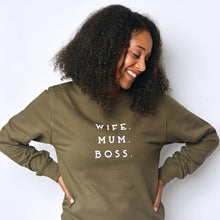 Load image into Gallery viewer, Wife Mum Boss Unisex Adults Sweatshirt