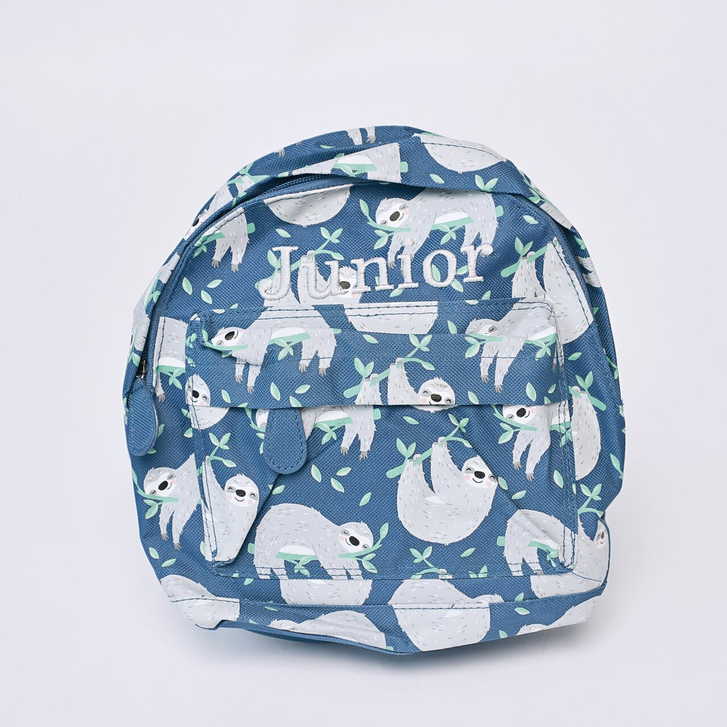 Sloth Mini Pattern Backpack
