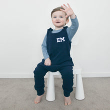 Load image into Gallery viewer, Demin Navy Chunky Knit Lounge Romper (Made to order)