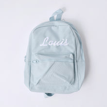 Load image into Gallery viewer, Powder Blue Embroidered Mini Essentials Backpack