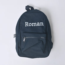 Load image into Gallery viewer, Navy Embroidered Mini Essentials Backpack