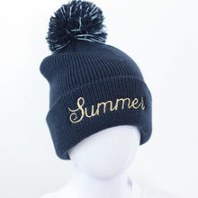 Load image into Gallery viewer, All Colours Embroidered Reflective Pom Hat