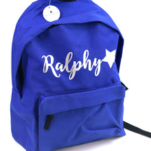 Load image into Gallery viewer, Name & Star Junior Backpack