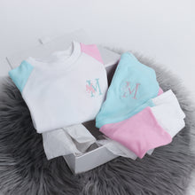 Load image into Gallery viewer, White, Baby Pink & Aqua Mix & Match Full Lounge Set (Made to Order)
