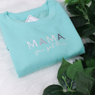 Mama you got this Pastel Rainbow Peppermint Unisex Adults Sweatshirt (Made to Order)