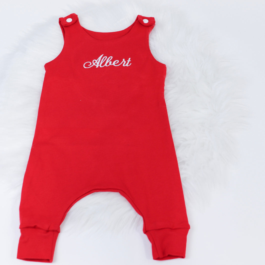 Red Lounge Romper- EXPRESS
