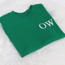 Load image into Gallery viewer, Emerald Embroidered Initial T-Shirt