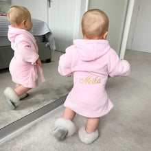 Load image into Gallery viewer, Embroidered Personalised Dressing Gown (Back Embroidery)