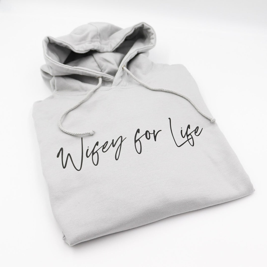 Wifey For Life Unisex Adults Hoodie
