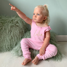 Load image into Gallery viewer, Baby Pink Lounge Romper (Made to order)