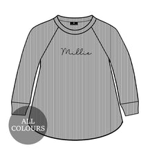 Load image into Gallery viewer, CYO Ribbed Lounge Long Sleeve Swing T-Shirt
