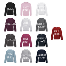 Load image into Gallery viewer, Simple Name Heart Standard Sweatshirt