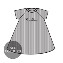 Load image into Gallery viewer, CYO Ribbed Lounge Short Sleeve Raglan Dress