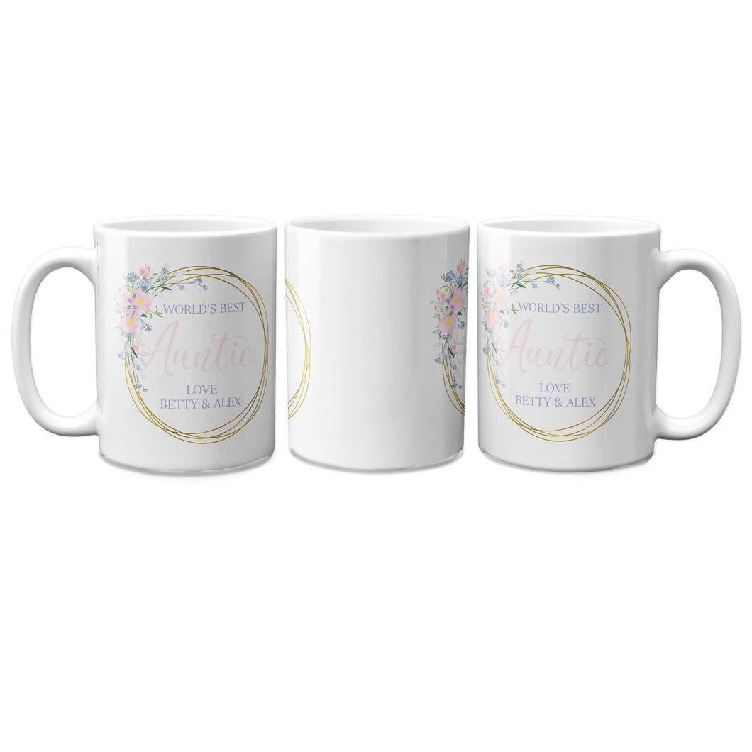 World's Best Auntie Personalised Mug