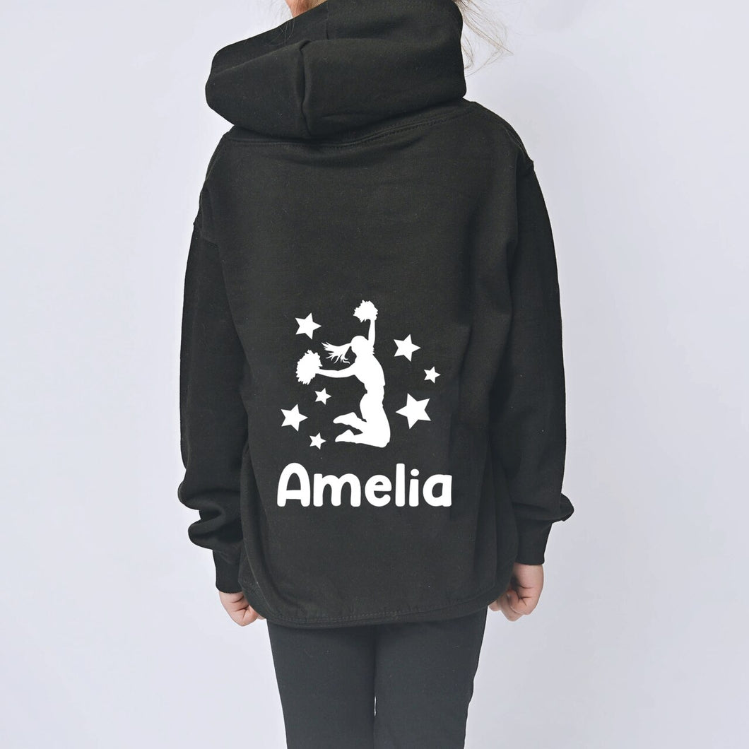 Cheerleader Personalised Zip-Up Hoodie