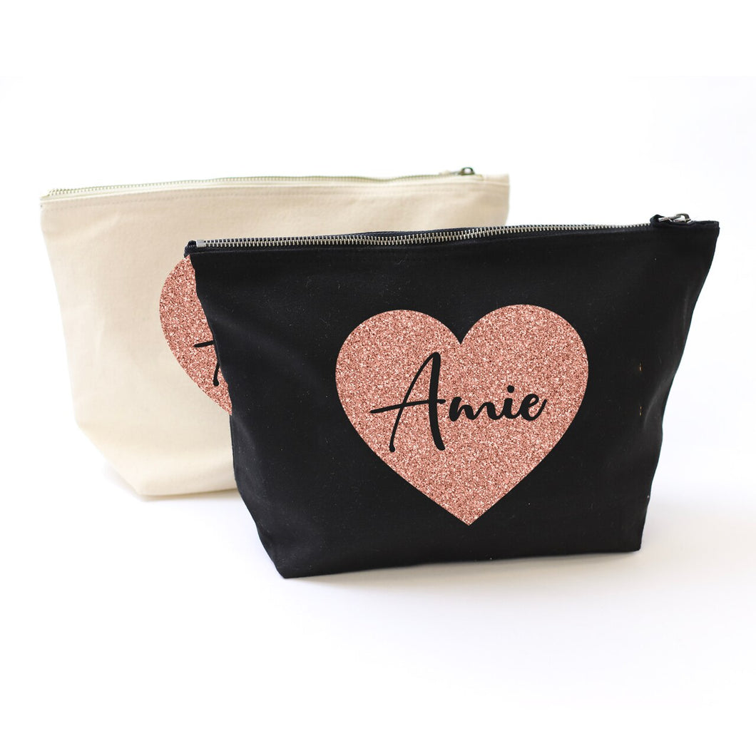 Heart Cut Out Accessory Bag