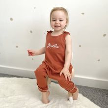 Load image into Gallery viewer, Rust Lounge Romper (Made to order)