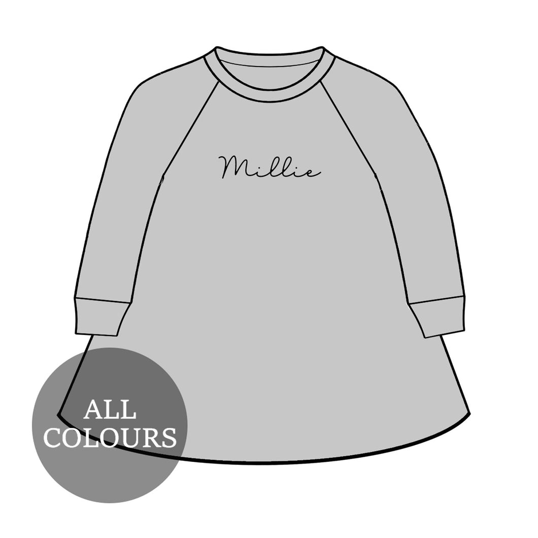 CYO Lounge Long Sleeve Raglan Dress