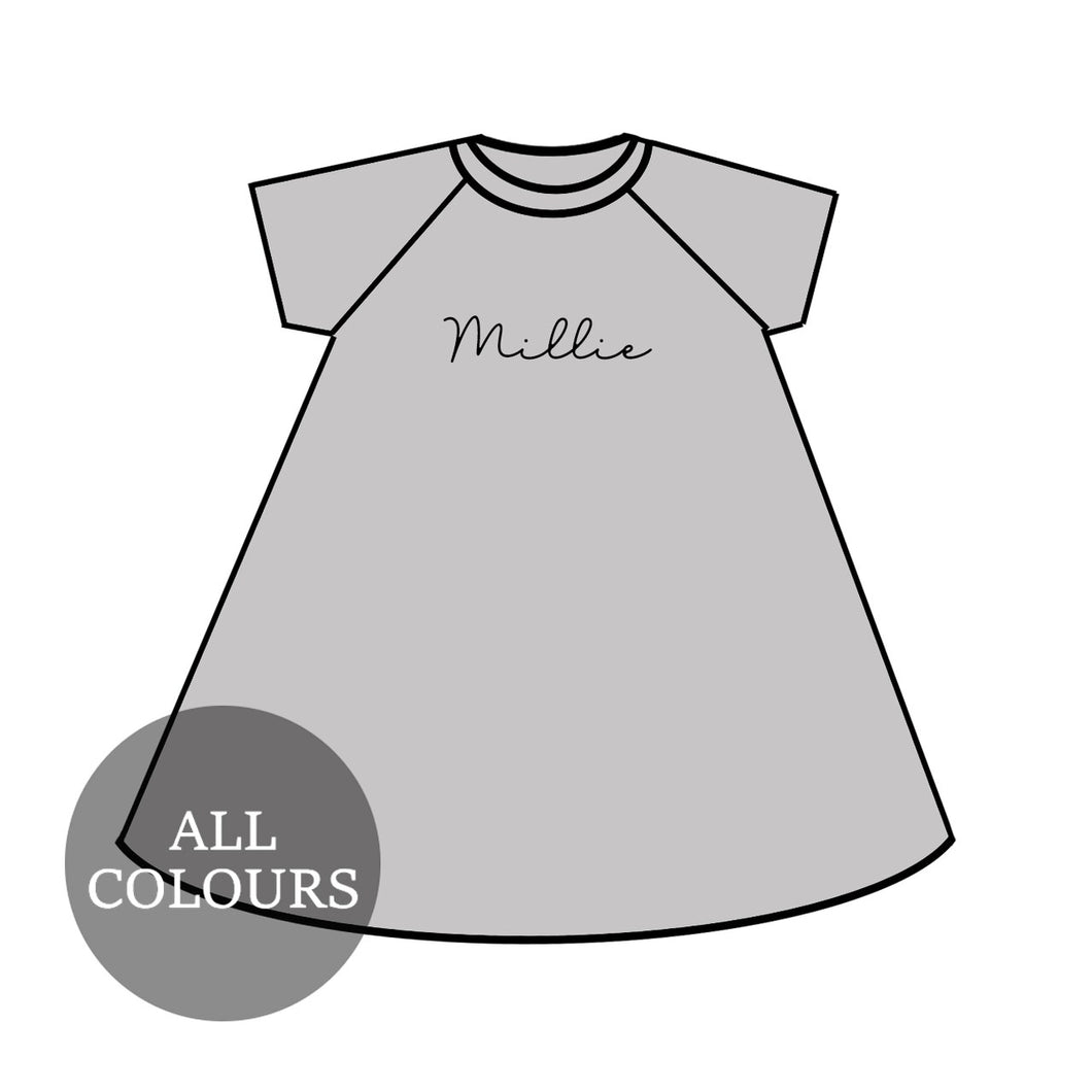 CYO Lounge Short Sleeve Raglan Dress