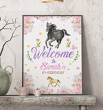 Horse Watercolor Poster