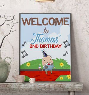 Humpty Dumpty Welcome Sign