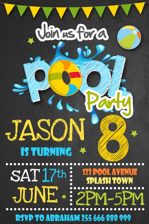 Pool Birthday Invitation