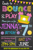 Bounce House Girl Invitation