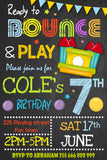 Bounce House Boy Invitation