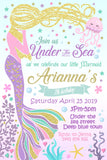 Mermaid Editable Invitation
