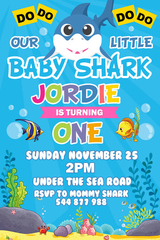 Baby Shark Invitation