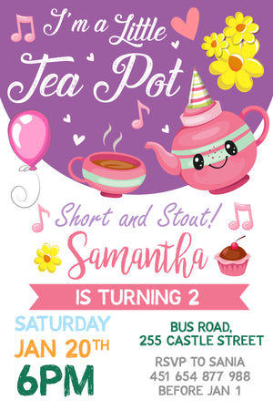 Little Tea Pot Invitation