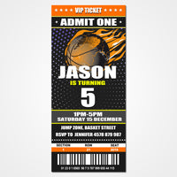 Basketball Party Ticket Invitation