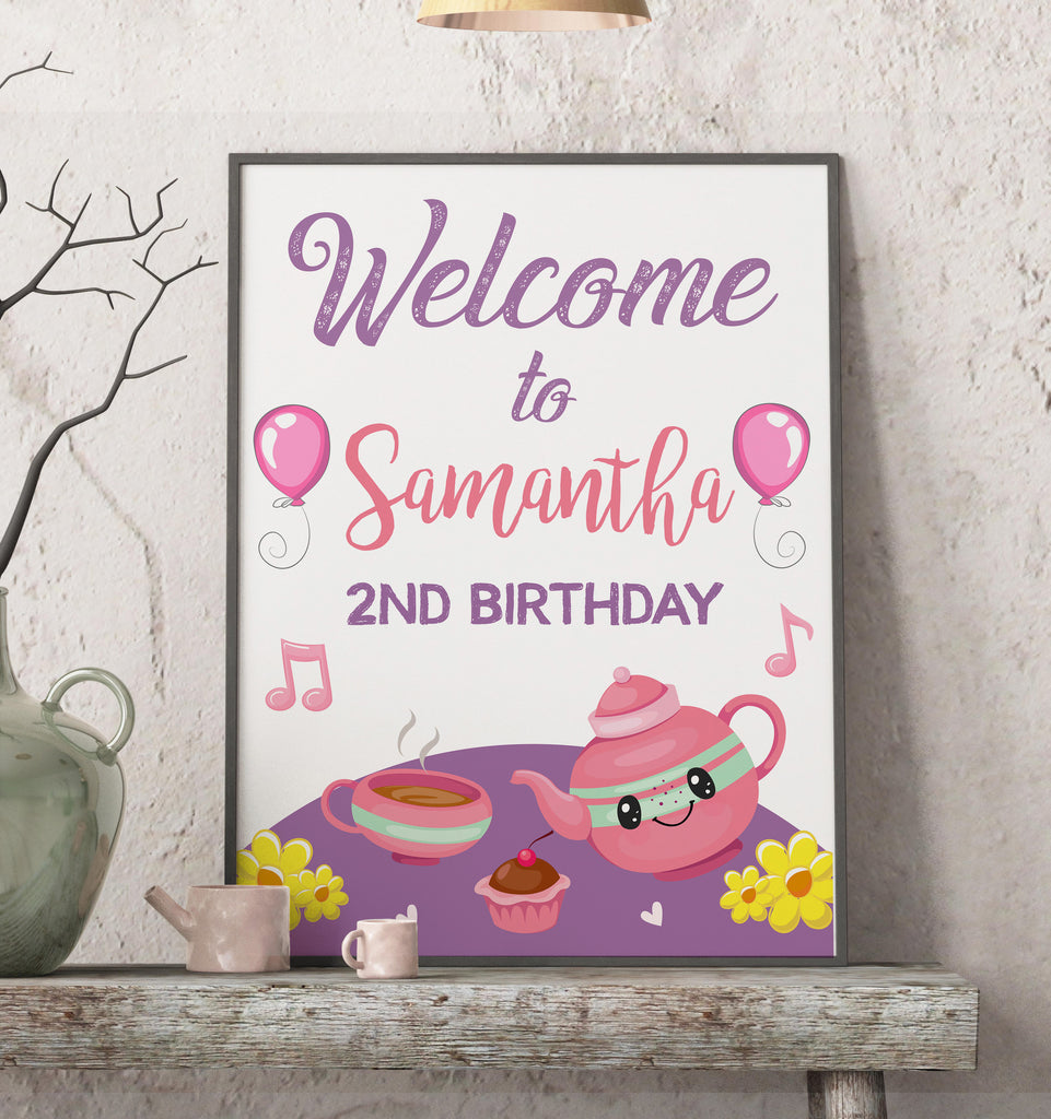 Little Tea Pot Welcome Sign