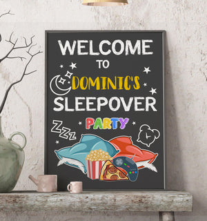 Sleepover Birthday Poster