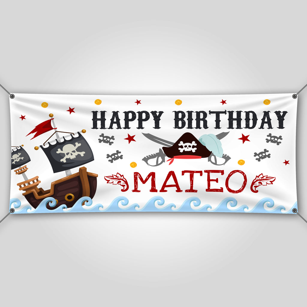 Pirate Birthday Banner