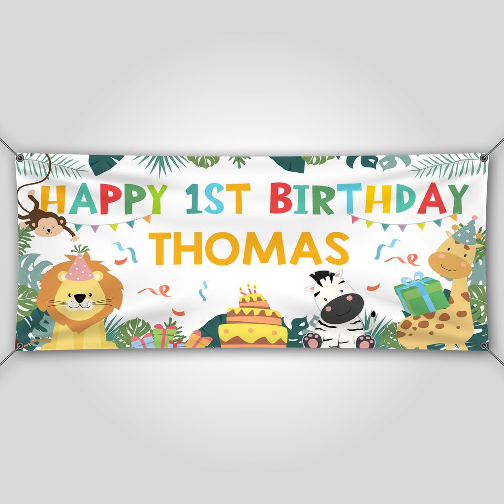 safari birthday banner