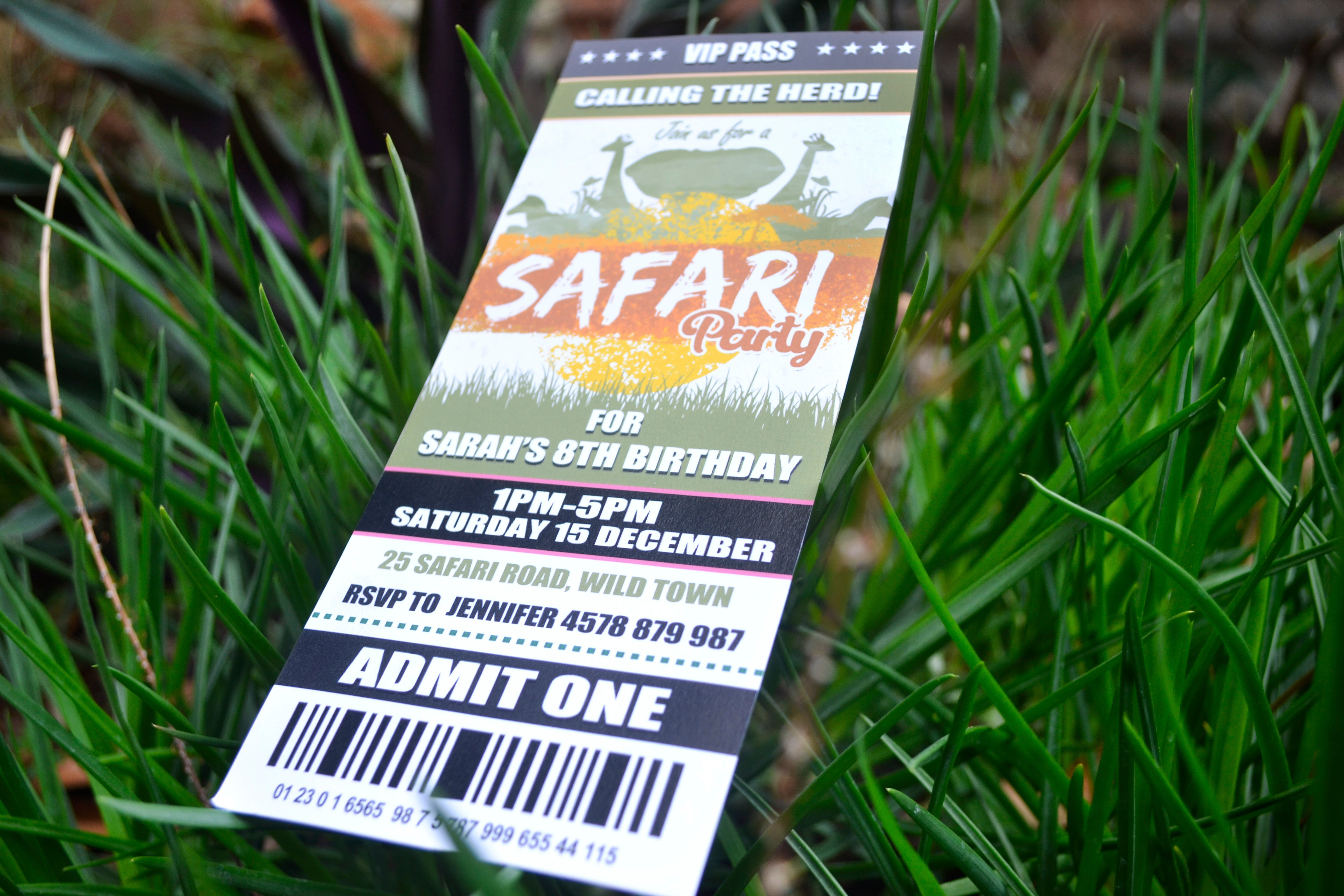 Safari Ticket Invitation