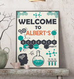 Science Party Welcome Sign
